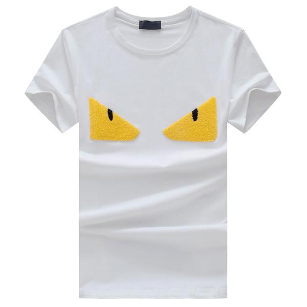 Fashion Eye 2018 Men's T shirt Summer Short Sleeves High Street Trend Luxury Party Casual Slim Tops