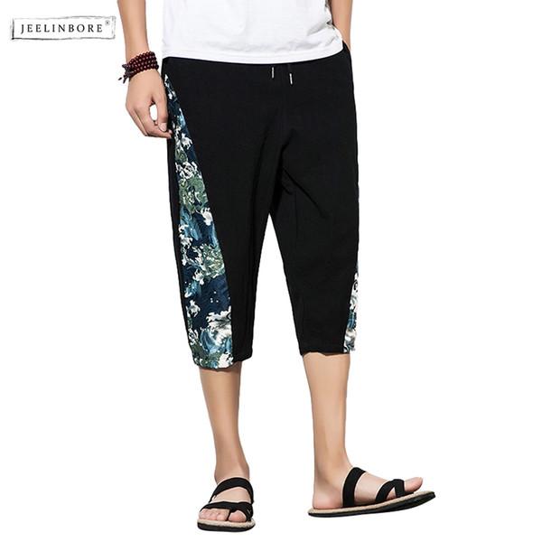 JEELINBORE Yaz Yeni Moda Çin Tarzı adamın Rahat Sprey Baskı Pantolon Gevşek Hip Hop Streetwear Pantolon Erkek Giyim