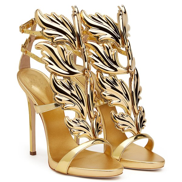 2018 Spring European Fashion Sexy Pumps Gladiator Roman Buckle Flame Wings High Heels Women Sandals Peep Toe Woman Casual Shoes