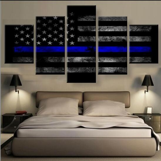 Painting Modular Cheap 5 Panel Sport Type Pictures Wall Art For Living Room Home Decor Artwork Flag Canvas Prints Drop Shipping Y18102209