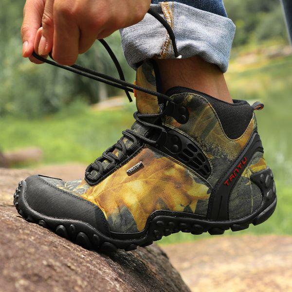 Новые мужские кроссовки открытый спортивная обувь высокая военная камуфляж дышащий и износостойкие водонепроницаемый пешие прогулки размер EU40-46