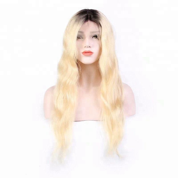 Full lace virgin long wig aaaaaaa human hair with baby hair 100% unprocessed remy 613# body wave high quality for women