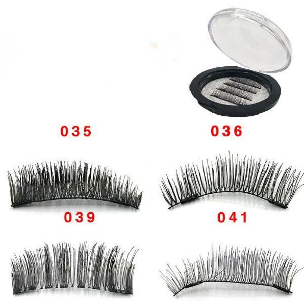 4pcs/set 3D Double Magnet False Eyelashes 2 Magnets Magnetic Fake Eye lashes Thick Long Sexy Eyelash Extension CCA9518 50set