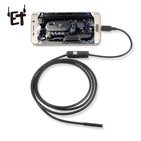ET Waterproof USB Endoscope Camera with 2m Snake Wire Magnet 720P HD Inspection Borescope Camera Camcorder for Android Phones