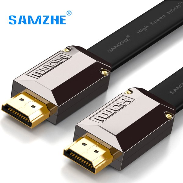 SAMZHE Flat 4K * 2K HDMI Kabel Auflösung 3840 * 2160 / 60hz Version 2. 0 für Laptop Xbox zu Projektor TV-Bildschirm und Großbild