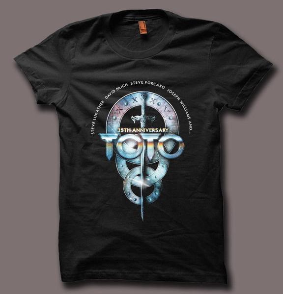 TOTO Band 35th Anniversary Live Tour Black Men Women Unisex T Shirt Tumblr Tee Sleeve Harajuku Tops