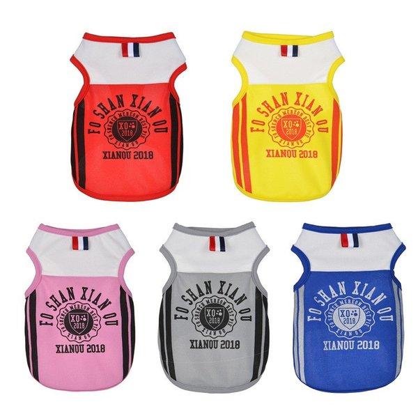 Casual Polyester Fiber Pet Vest Fashion English Letter Dog Mesh Shirt For Outdoor Sports Puppy Clothes Colorful 4 8xq BB