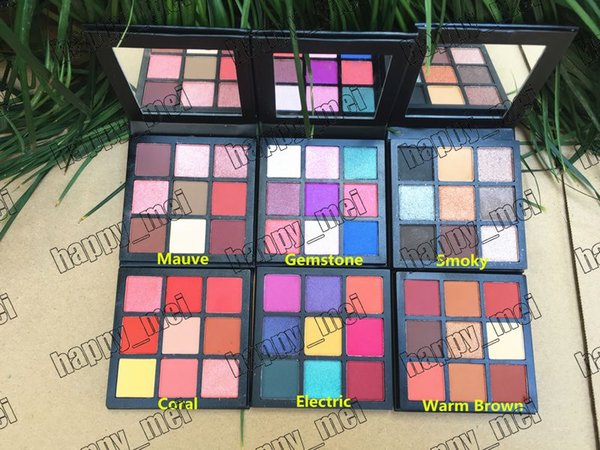 Factory direct dhl new makeup coral gem tone warm brown moky mauve electric ob e ion eye hadow pallet 9 color eye hadow