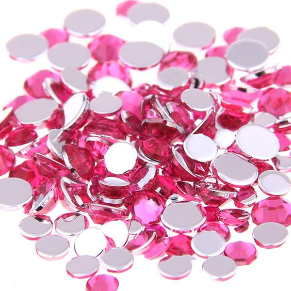 Many Sizes Light rose Color Acrylic Rhinestones hoes Shining Nail Art Decorations Clothing Decorations