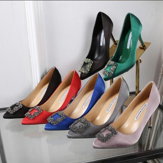 NEW italy brand Mercerized denim genuine SILK wedding shoes silver Rhinestone High heels women&039;s Shoe wedding bridal shoes WITH