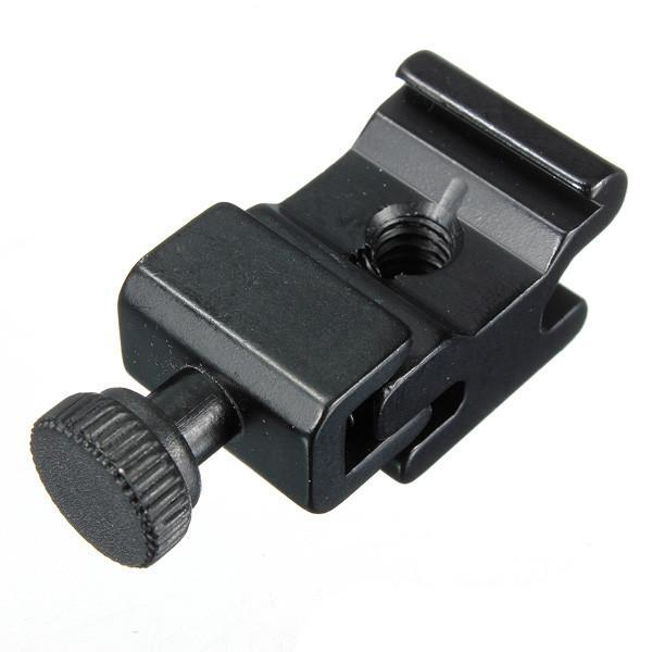 Metal Camera Flash Hot Shoe Mount Adapter with 1/4 Screw Adapter Seat Block to Flash Bracket Holder for Camera Tripod