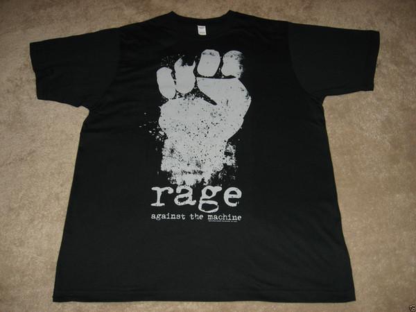 Ярость против машины кулак черная футболка 2018 Лето новый бренд футболка мужчины футболка повседневная фитнес