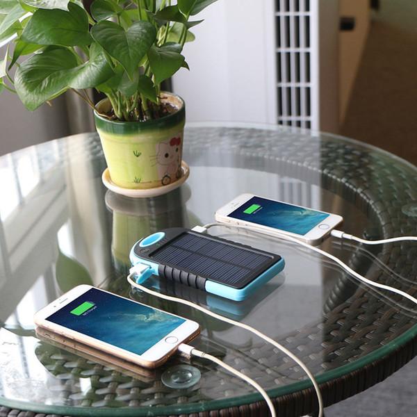 Super wasserdicht staubdicht tragbare Solar-Ladegerät Solar Powerbank externe Batterie für Handy iPhone 7 7Plus