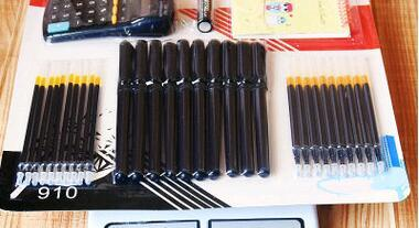 Free Shipping for Orders Office Supplies Business Office Set Neutral Gel Ink Pen 36Set/lot Manufacturer Direct Sales 0.35mm 29cm GP049