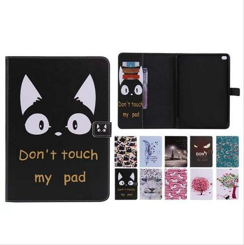 Dont Touch My Pad Sleep Wake UP Flip Wallet Stand PU Leather case for ipad Mini 123 4 New ipad 9.7 2017 2018 234 Air 1/2 T280 T350 T385