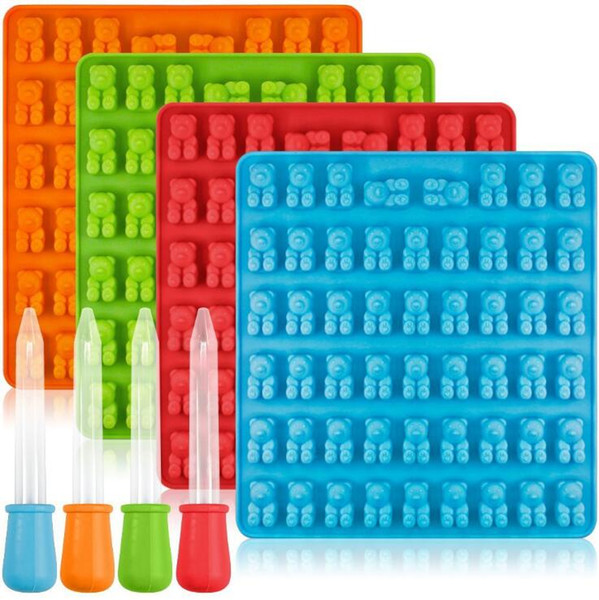 50 53 Cavity Silicone Gummy Bear Chocolate Mold Candy Maker Ice Tray Jelly Moulds Ice Cream Tools OOA5034