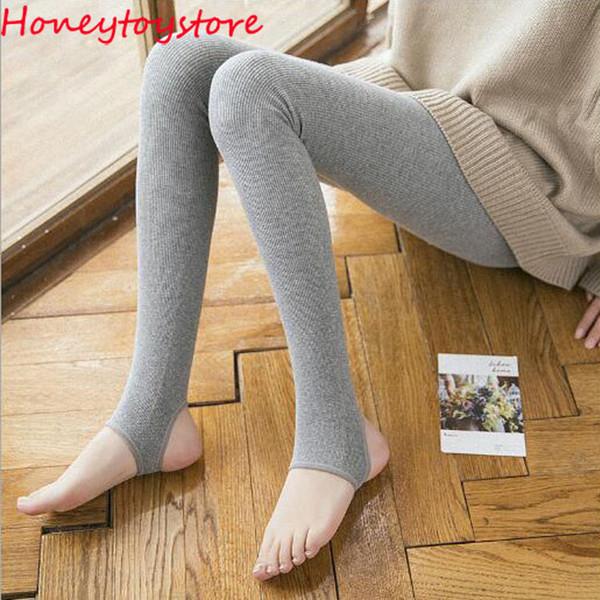 2018 New Fashion Casual Warm cotton Winter Leggins Women Leggings Knitted Thick Slim Women Legins Woman Solid Pants