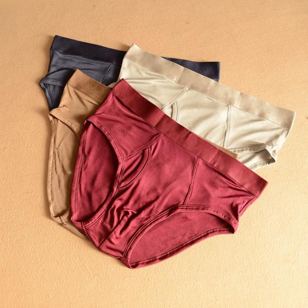 High Quality Mens Briefs Natural Silk Mens Sexy Underwear Briefs Underwear Sexy Bikini Men Silk Brief