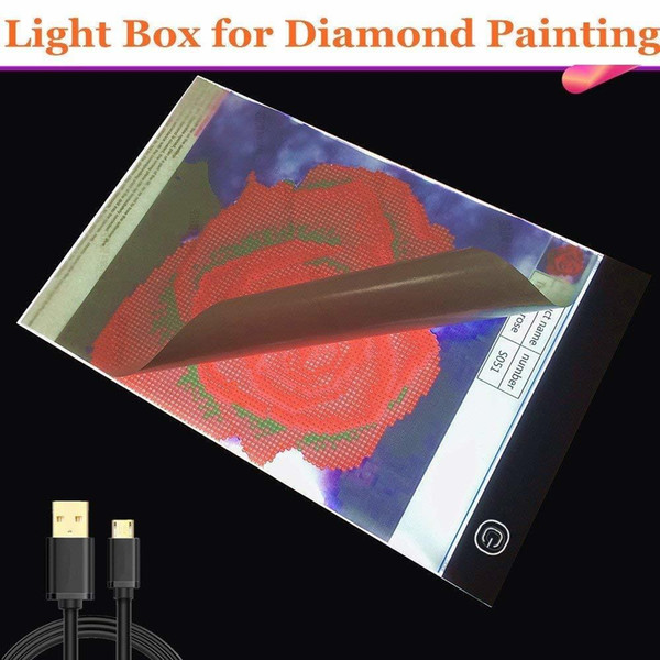 5D Diamond Painting drawing Tablet A4 LED Light Box Table Board Pad Crystal Rhinestone Embroidery Diamond Painting Accessories Y18102009