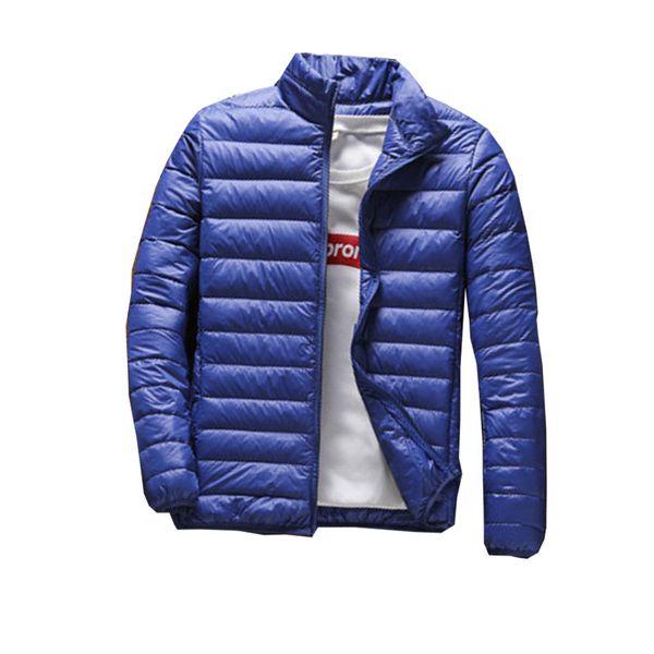 Outono e inverno fino terno de algodão dos homens nova XL maré gola parágrafo curto jaqueta Casual para 150 kg roupas masculinas
