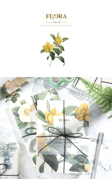 School Supplies Notepads/Notebooks Flora Series with pp Covered Notebooks in 4 Colors Free Shipping by Fedex