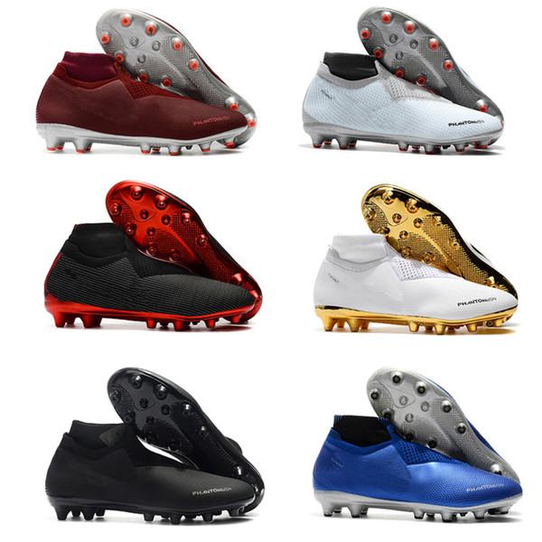 Original soccer cleats Phantom Vision Elite DF soccer shoes Phantom VSN Academy AG FG mens football boots scarpe calcio High Quality Boots