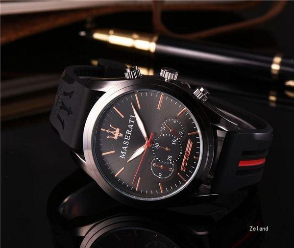 Premium quartz watch men women brand ma erati ilicone teel watche reloje hombre horloge orologio uomo montre homme prot watch