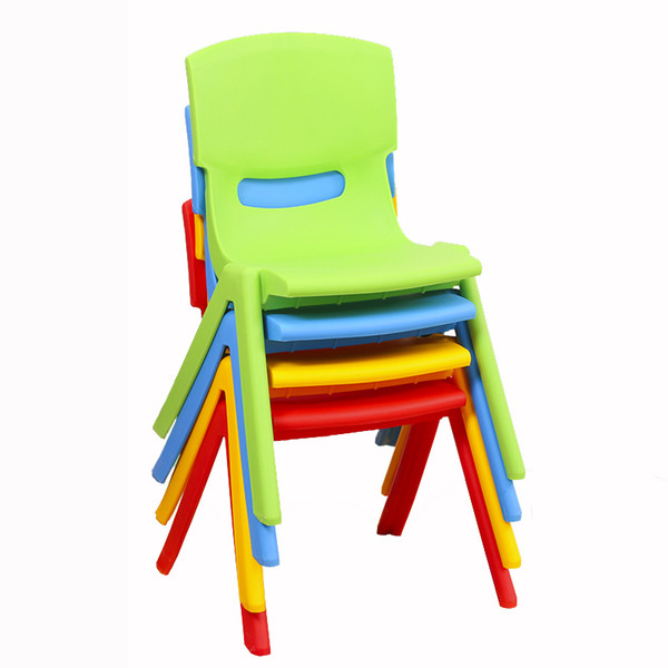 5 PCS H21cm Children back chairs kindergarten chairs baby chairs stools plastic stools folding backrest stools