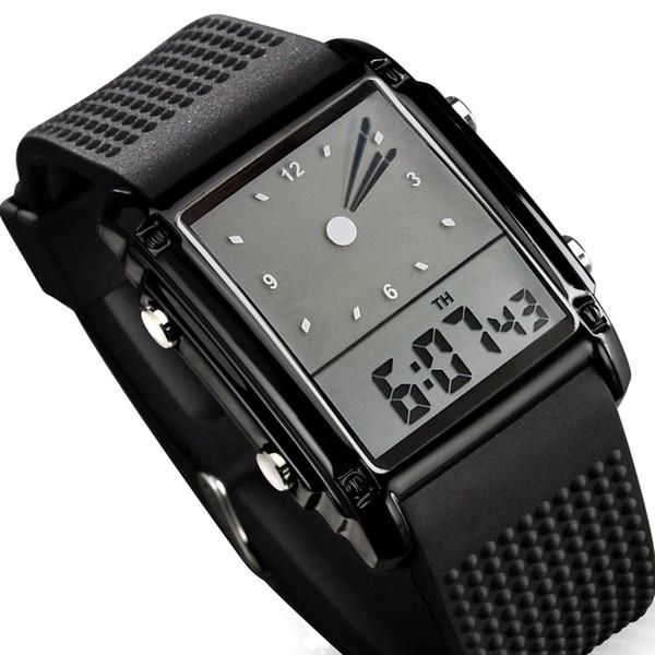 e79b0fa04e4 Skmei Moda Homens Relógios Desportivos Dual Time Digital de Quartzo 30 m À  Prova D