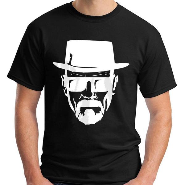 Das T-Shirt der neuen Heisenberg-Schwarz-Männer Größe S-3XL drucken kurzes Hülsen-T-Shirt freies Verschiffen kurzärmelige Druck-Buchstaben