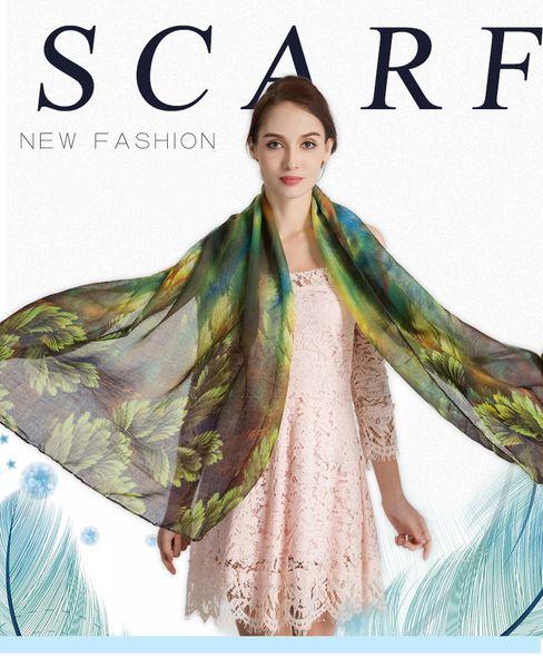 180cm*100cm 6 Colors Floral Fabric Designer Scarf Women Hijab Shawls Pashmina Head Wrap Scarf Table Blanket Beach Towel
