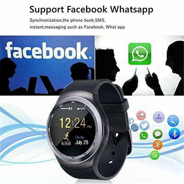 SOVO SG56 Bluetooth 3.0 Smart Watch Con Pasómetro Cámara SIM Tarjeta de llamada HD IPS Pantalla táctil redonda Teléfono Celular Reloj