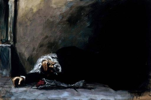 Fabian Perez En attendant le retour de la romance II, peint à la main Impression HD Impressionisme Pop Art Peinture à l'huile sur toile