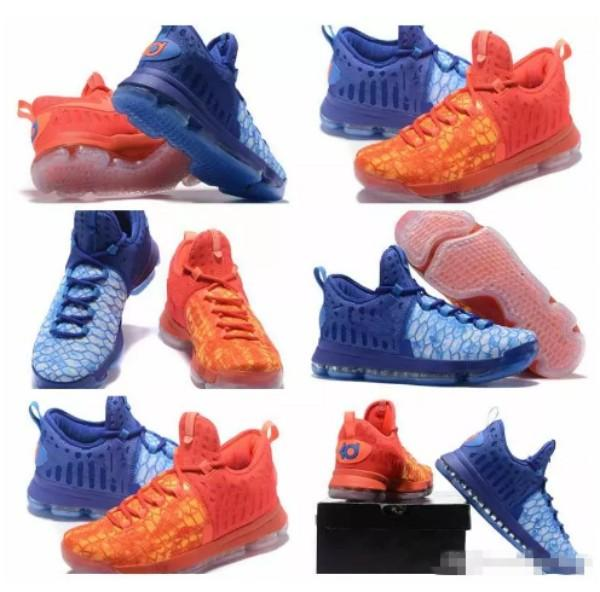 What the KD 9 Fire & Ice EP Basketball Shoes for Men High quality Kevin Durant 9s Bounce Mens KD9 Sports Sneakers Trainers 7-12