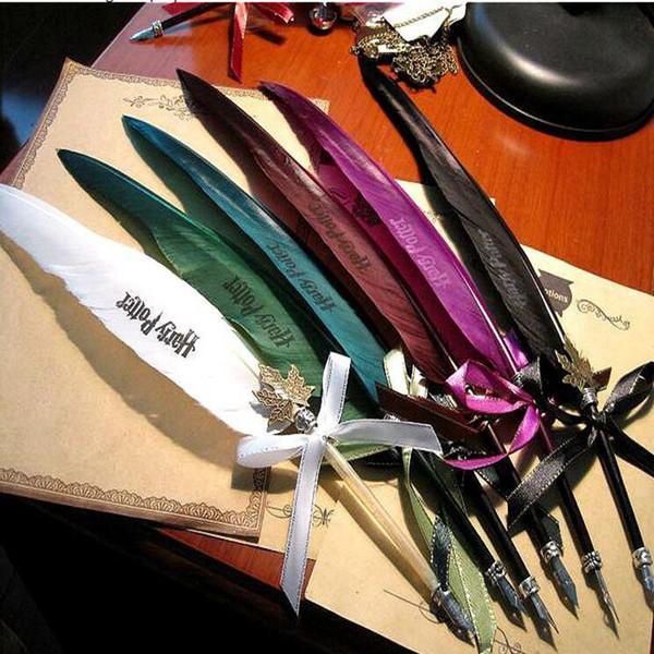 Harry Potter Schreibfeder ohne Tinte 7 Farbfeder wählen Harry Potter Office School Füllfederhalter ohne Tinte KKA5760
