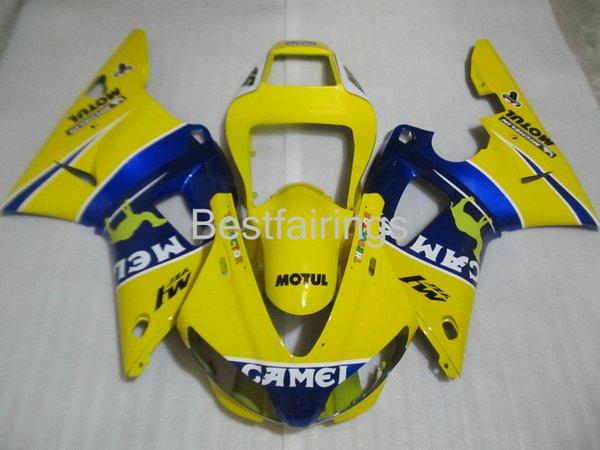 Hot sale fairing kit for YAMAHA R1 1998 1999 yellow blue fairings YZF R1 98 99 PO89