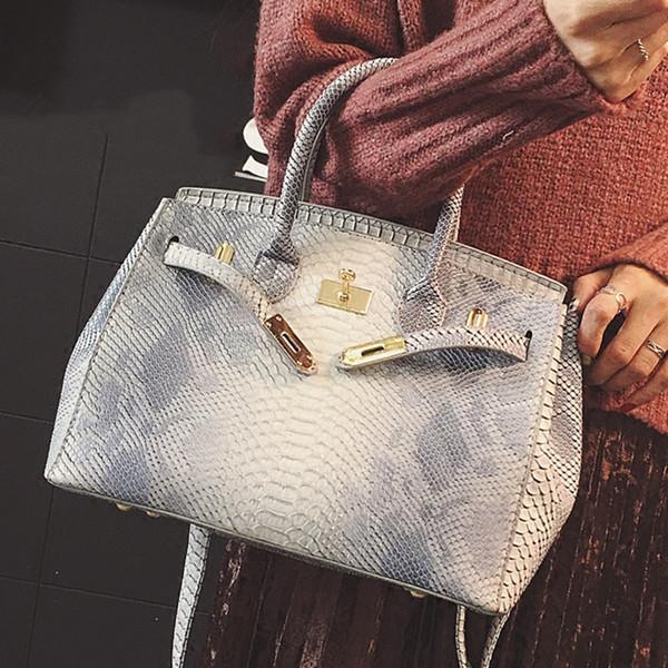 bolsa de diseñador de las mujeres bolsos de la manija bolsos grandes de la marca del cocodrilo 2017 bolso de hombro bolsas de mensajero femeninas totalizador