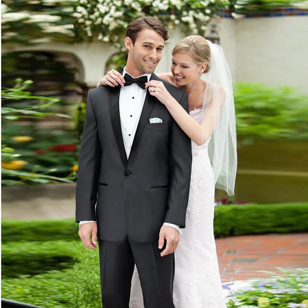 Trajes de Hombre Classic Men Suits Black Wedding Suits Man Bridegroom Groomsmen Custom Made Slim Fit Formal 2Piece Best Man Blazer Tuxedos