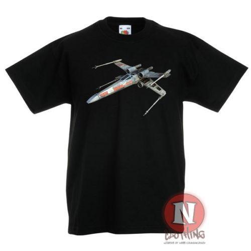X-Wing lutador tar ars crianças crianças t-shirt 3-13 anos impresso design100% algodão camisetas tee atacado
