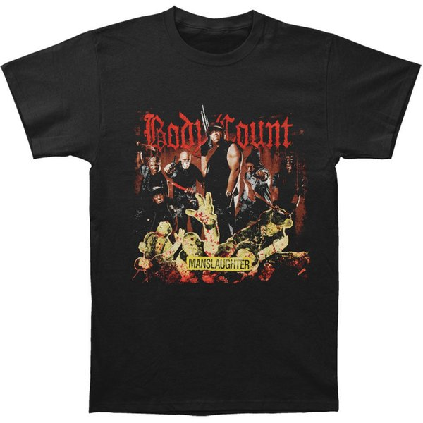 Body Count Men's Manslaughter T-shirt Noir D'été À Manches Courtes Chemises Top S