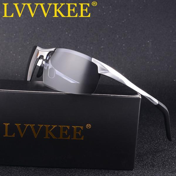 Chaude LVVKEE Aluminium Marque New HD Lunettes De Soleil Polarisées Mode Hommes Lunettes De Soleil Voyage Conduite Mâle Lunettes UV400 Oculos Pour Hommes