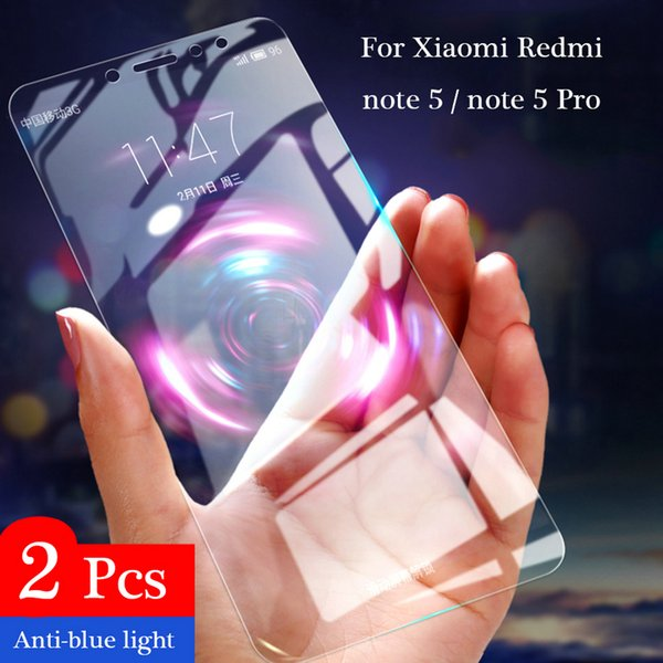 2Pcs Full Tempered Glass For Xiaomi Redmi Note 5 Pro Screen Protector Global version 9H 2.5D Anti-Blu-ray For Redmi Note 5 glass
