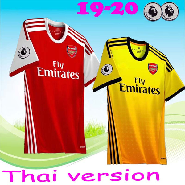 best service 75dc8 f605b 2019 Thailand Arsenal Soccer Jersey 2019 2020 AUBAMEYANG OZIL JERSEY 19 20  LACAZETTE TORREIRA Football Kit Top MEN Soccer Shirt From Footballjersey00,  ...