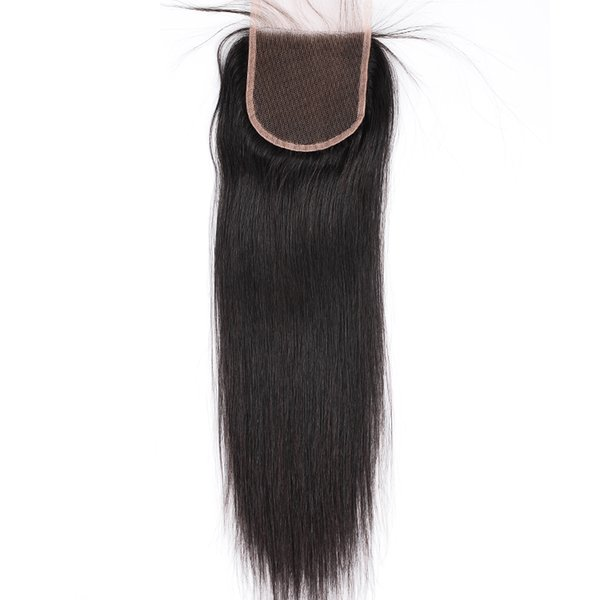 Hairlicious Cheap Swiss Lace Closure 100% Best Brazilian Virign Straight Human Hair 4X4 Free Part 10-22inch Wholesale