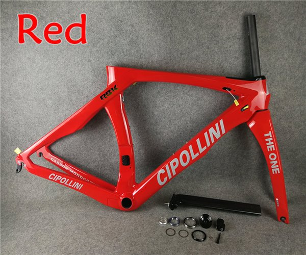 Silver decals Red T1000 MCipollini RB1K THE ONE carbon road frames Cipollini with BB86 3K/UD/1K Matte Glossy for selection free shipping