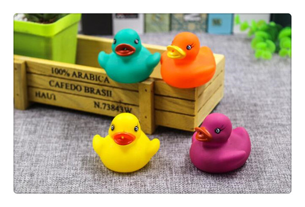 Baby Bath Water Toy toys Sounds Yellow Rubber Ducks Kids Bathe Children Swiming Beach Gifts Cute Animals Bathing Toy