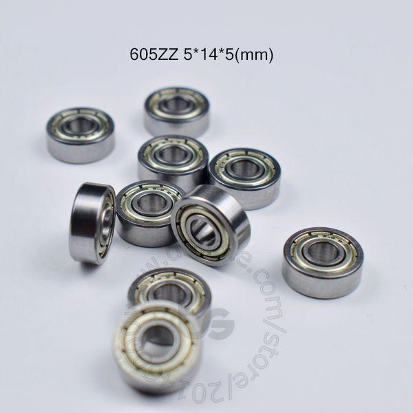 best selling 605ZZ bearings 10pcs metal Sealed Miniature Mini Bearing chrome steel bearing 605 605Z 605ZZ 5*14*5mm