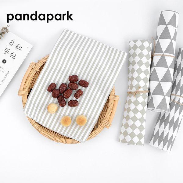 Pandapark Modern Simple Stripe Table Mat Geometric Pattern Decorative Dining Mat Heat Insulation Pad Table Cloth Cushion PPM040