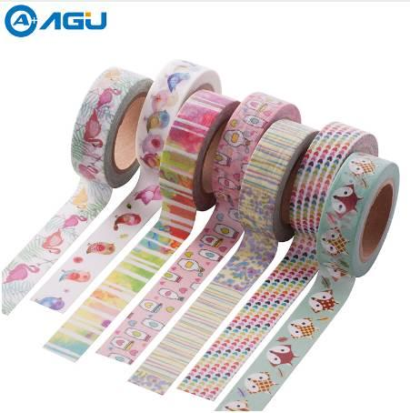 best selling New Arrival 1PC 15mm*10m Cute Fox Pattern Washi Tape Single sided Adhesive Tape Scrapbooking Diary Paper Tape Sticker 2016