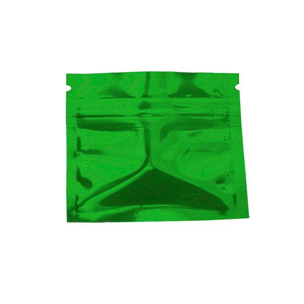 7.5*6cm 200Pcs/Lot Green Mylar Resealable Ziplock Package Bags Zip Lock Aluminum Foil Packaging Bag Tea Powder Storage Pouches